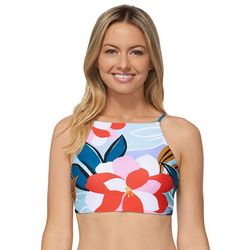 RAISINS Juniors Halter Floral Swim Top