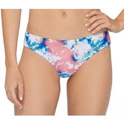 RAISINS Juniors Tye Dye Cheeky Ruched Back Swim Bottoms