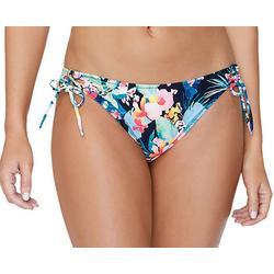 Juniors Tropical Floral Tie Side Swim Bottoms