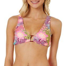 Island Soul Juniors Floral Patchwork Bralette Swim Top