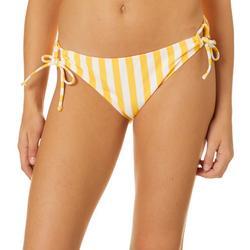 Juniors Sweet Pea Stripe Tie Side Swim Bottoms