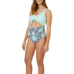 Island Soul Juniors Floral Stripe Cut Out One
