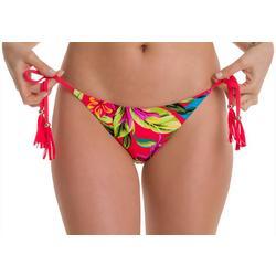 Juniors Tropical Tie Swim Bottoms