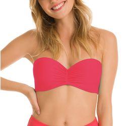 KIKI RIO Juniors Solid Strapless Bikini Top