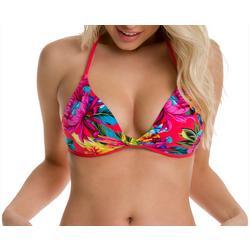 Juniors Leia Floral Twist Bikini Top