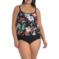 Maxine Plus Paradise Blouson Style Faux Tankini Swimsuit