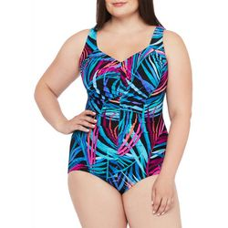 Maxine Plus Jungle Party Girl Leg One Piece Swimsuit