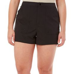 Plus Solid Back Elastic Boardshorts
