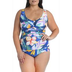 Plus Maui Shirred One Piece Swimsuit