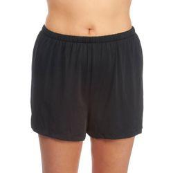 Maxine Plus Solid Jogger Elastic Waist Swim Shorts