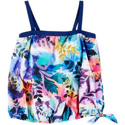Maxine Of Hollywood Plus Garden Party Bandeau Tankini Top