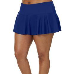Plus Solid Swim Skirt
