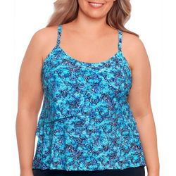 American Beach Plus Mandala High-Low Tankini Top