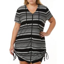 Wearabouts Plus Ibiza Stripe Hooded Swim Cover-Up