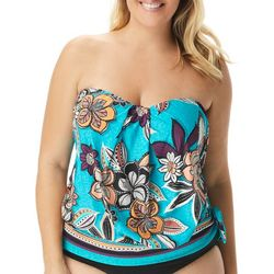 Coco Reef Plus Floral  Bandeau Tankini Top