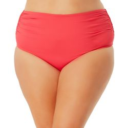 Anne Cole Signature Plus High Waist Swim Bottoms