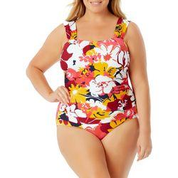 Anne Cole Signature Plus Floral One Piece Swimsuit