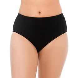 Plus Solid High Rise Swim Bottoms