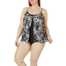 Paradise Bay Plus Flyaway Animal Print One Piece