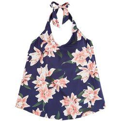 Leilani Plus Floral Halter Tankini Top