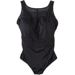 Plus Meshing Around One Piece Swimsuit