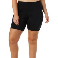 Plus Solid Hip Minimizer Swim Bike Shorts