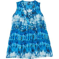 Womens Plus Abstract Print Swim Cover-Up