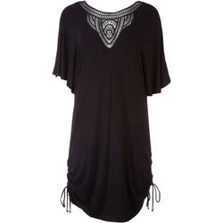 Wearabouts/Dotti Womens Crochet Neck Tunic Cover-Up