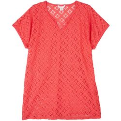 Kaktus Solid Lace Cover-Up