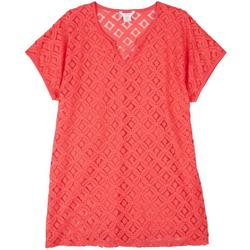 Solid  Lace Cover-Up