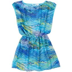 Kaktus Graphic Wave Tie-front Cover Up