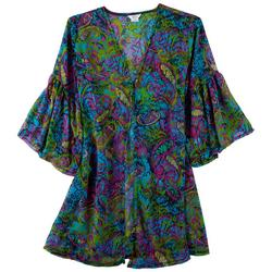 Crazy Paisley One-Button Cover Up