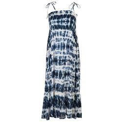Raviya Womens Tie Dye Smocked Maxi Beach Dress