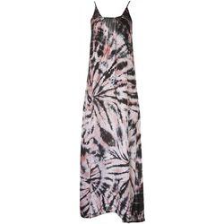 Raviya Womens Scoop Back Tie-Dye Sleeveless Maxi Beach