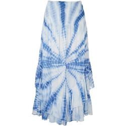 Womens Smocked Tie-Dye Sleeveless Maxi Beach Dress