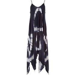 Raviya Womens Two-Tone Tie-Dye Sleeveless Maxi Beach Dress