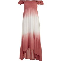 Raviya Womens Dip Dye Cap Sleeve Maxi Beach Dress