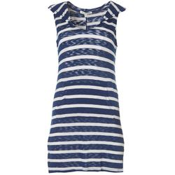 Miken Womens Stripe Hooded Cover-Up