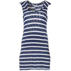 Womens Stripe Hooded Cover-Up