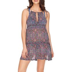Womens Scope Paisley Swirl High Neck Cover-Up