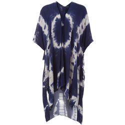 Angie Juniors Tie Dye  Kimono Swim Cover-Up