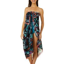 Paradise Bay Womens Tropical Pareo Sarong Cover-Up