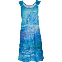 Womens Supermoon O-Ring Tank Dress Cover-Up