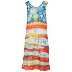 Womens Home Sweet Home O-Ring Tank Cover-Up