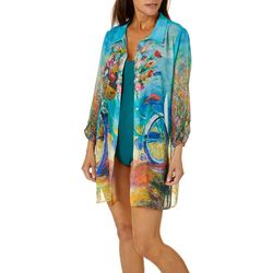 Leoma Lovegrove Womens Beach Ride Shirt Cover-Up