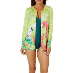 Womens Florida Flamingo Swim Shirt
