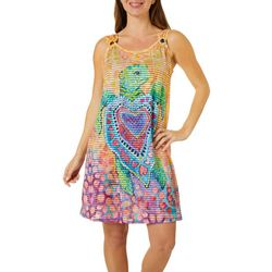 Leoma Lovegrove Womens Seaheart O-Ring Tank Cover-Up