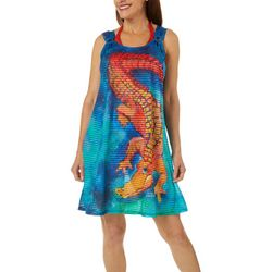 Leoma Lovegrove Womens Florida Flirt O-Ring Tank Cover-Up