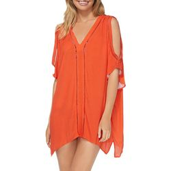 RAISINS Womens Slash Sleeve Kaftan Cover-Up