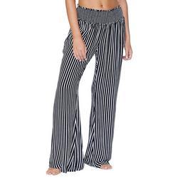 Juniors Striped Swim Cover Up Pants